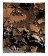 Alexander Hills Bedrock In Mars Fleece Blanket