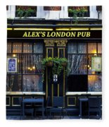 Alex's London Pub Fleece Blanket