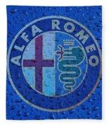 Alfa Romeo Rainy Window Visual Art Fleece Blanket