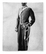 Algeria French Soldier Fleece Blanket