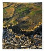 Alhama De Granada Volcanic Lands Fleece Blanket