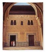 Alhambra Courtyard Fleece Blanket