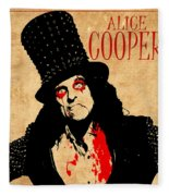 Alice Cooper 1 Fleece Blanket