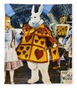 Alice In Wonderland Fleece Blanket
