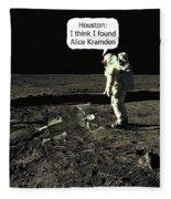Alice Kramden On The Moon Fleece Blanket
