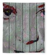 Alice On The Fence Fleece Blanket
