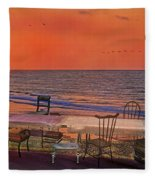 Alice's Topsail Island Tea Fleece Blanket