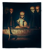 Alien Autopsy Alien Abduction Fleece Blanket