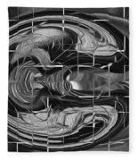 Alien Brain Fleece Blanket