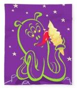 Alien Ice Cream -vector Version Fleece Blanket
