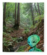 Alien In Redwood Forest Fleece Blanket