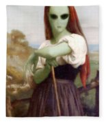Alien Shepherdess Fleece Blanket
