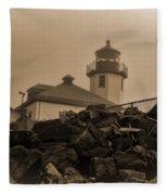 Alki Lighthouse Fleece Blanket