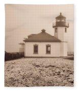 Alki Point Lighthouse Fleece Blanket