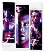 All-american 80's Action Movies Fleece Blanket