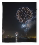 All At Once San Diego Fireworks Fleece Blanket