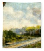All Clear On The Pere Marquette Railway  Fleece Blanket