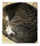 All Curled Up Fleece Blanket