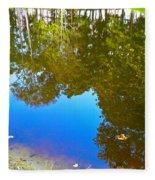 All Pond Treeflection Fleece Blanket