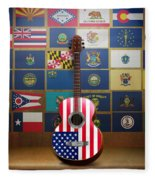 All State Flags Fleece Blanket