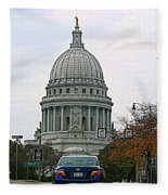 All Streets Lead To The Capital Fleece Blanket