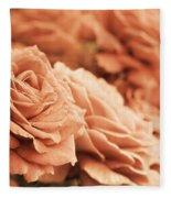 All The Orange Roses Fleece Blanket