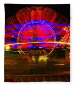 All The Rides Moving At Once Fleece Blanket