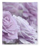 All The Soft Violet Roses Fleece Blanket