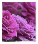 All The Violet Roses Fleece Blanket