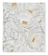 All The White Roses  Fleece Blanket