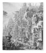 Allegorical Frontispiece Of Rome And Its History From Le Antichita Romane  Fleece Blanket