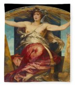 Allegory Of Religious And Profane Painting  Fleece Blanket