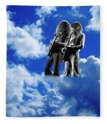 Allen And Steve In Clouds Fleece Blanket