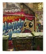 Alley Graffiti Fleece Blanket