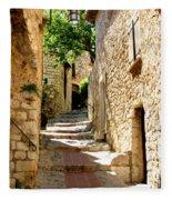 Alley In Eze, France Fleece Blanket