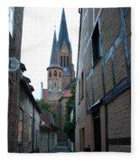 Alley In Schleswig - Germany Fleece Blanket