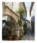 Alley In The Procence Fleece Blanket