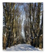 Alley In The Snow Fleece Blanket