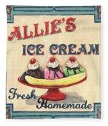Allie's Ice Cream Fleece Blanket