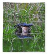 Alligator Appetite Fleece Blanket