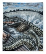 Alligator Hunt Fleece Blanket