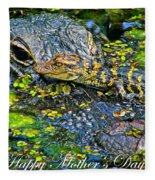 Alligator Mother's Day Fleece Blanket