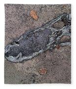 Alligator Skull Fossil 2 Fleece Blanket