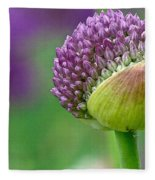 Allium Blooming Fleece Blanket