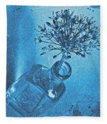 Allium Cyanotype Fleece Blanket