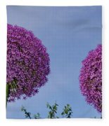 Allium Flowers Fleece Blanket