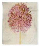 Allium Pink Jewel Fleece Blanket