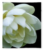 Alluring Lotus Fleece Blanket