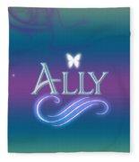 Ally Name Art Fleece Blanket