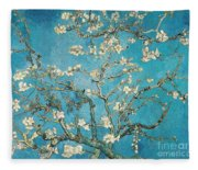 Almond Branches In Bloom Fleece Blanket